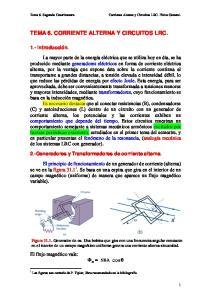 TEMA 6. CORRIENTE ALTERNA Y CIRCUITOS LRC