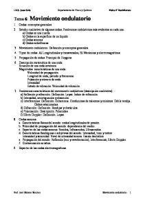 Tema 6: Movimiento ondulatorio