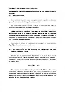 TEMA 6: SISTEMAS DE ALTITUDES
