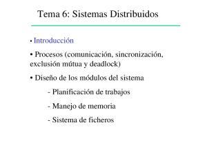 Tema 6: Sistemas Distribuidos