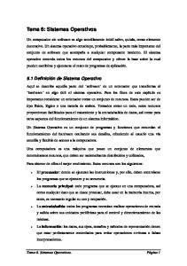 Tema 6: Sistemas Operativos