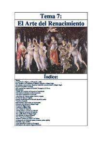 Tema 7: El Arte del Renacimiento