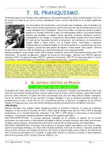 Tema 7. El Franquismo, EL FRANQUISMO