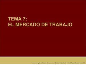 TEMA 7: EL MERCADO DE TRABAJO