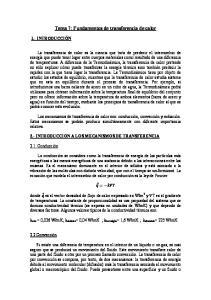 Tema 7: Fundamentos de transferencia de calor