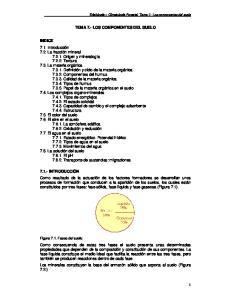 TEMA 7.- LOS COMPONENTES DEL SUELO