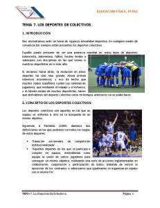 TEMA 7. LOS DEPORTES DE COLECTIVOS