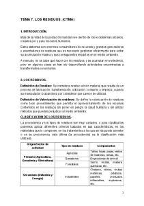 TEMA 7. LOS RESIDUOS. (CTMA)