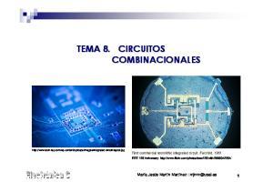 TEMA 8. CIRCUITOS COMBINACIONALES