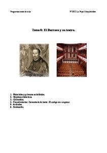Tema 8: El Barroco y su teatro
