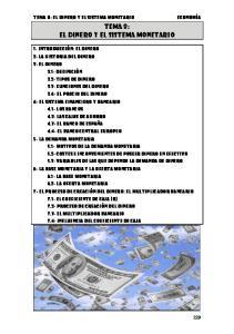 TEMA 8: EL DINERO Y EL SISTEMA MONETARIO