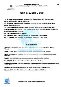 TEMA 8: EL EQUILIBRIO