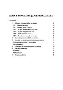 TEMA 8. FUNCIONES (I). GENERALIDADES