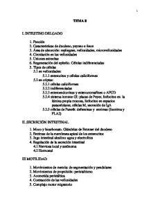 TEMA 8 I. INTESTINO DELGADO