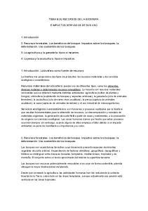 TEMA 8 (II):RECURSOS DE LA BIOSFERA E IMPACTOS DERIVADOS DE SUS USO