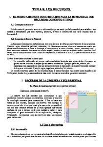TEMA 8: LOS RECURSOS