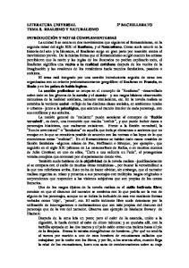 TEMA 8. REALISMO Y NATURALISMO