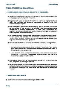 TEMA 8.-TRASTORNOS DISOCIATIVOS