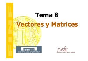 Tema 8 Vectores y Matrices