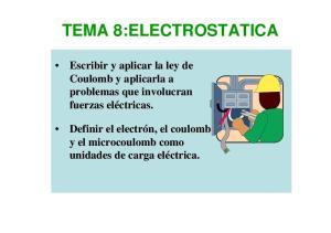 TEMA 8:ELECTROSTATICA