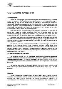 Tema 9. APARATO REPRODUCTOR