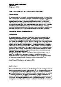 Tema 9: EL ASCENSO DE LOS TOTALITARISMOS