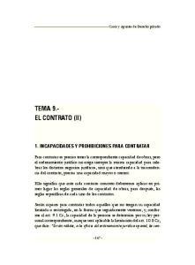 TEMA 9.- EL CONTRATO (II)