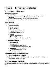 Tema 9 El reino de las plantas