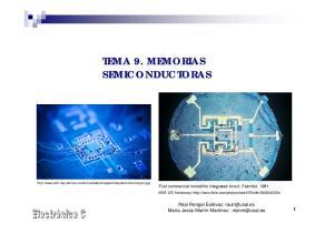 TEMA 9. MEMORIAS SEMICONDUCTORAS