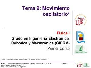 Tema 9: Movimiento oscilatorio*