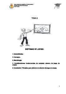 TEMA 9 SISTEMAS DE JUEGO