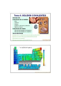 Tema 9. SOLIDOS COVALENTES