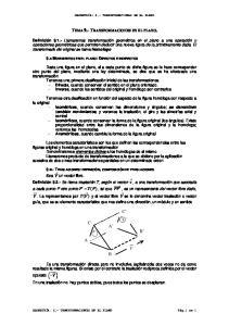 TEMA 9.- TRANSFORMACIONES EN EL PLANO