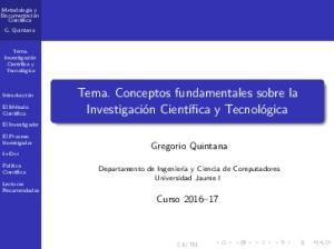 Tema. Conceptos fundamentales sobre la
