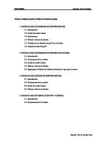 TEMA: ENGRANAJES. TIPOS DE ENGRANAJES