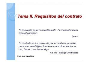 Tema II. Requisitos del contrato
