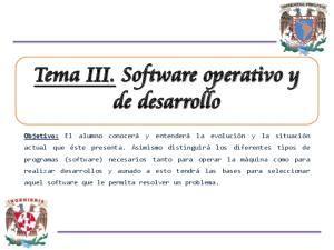 Tema III. Software operativo y de desarrollo
