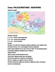 Tema: PALEOCRISTIANO - BIZANTINO