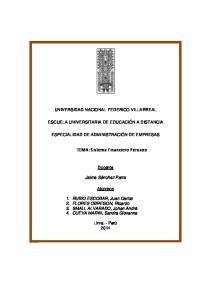 TEMA: Sistema Financiero Peruano