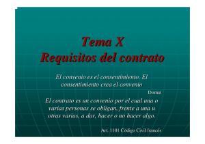 Tema X Requisitos del contrato