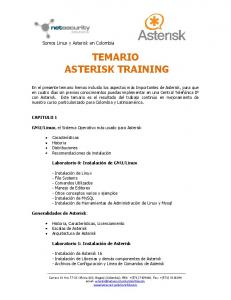 TEMARIO ASTERISK TRAINING