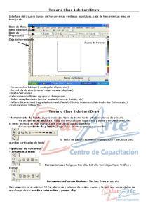 Temario Clase 1 de CorelDraw. Temario Clase 2 de CorelDraw