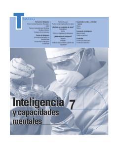 TEMARIO. Inteligencia. y capacidades. mentales