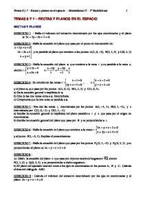 TEMAS 6 Y 7 RECTAS Y PLANOS EN EL ESPACIO