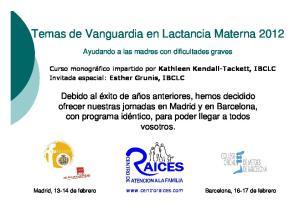 Temas de Vanguardia en Lactancia Materna 2012