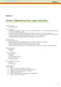 Temat: Higieniczny dom i jego otoczenie