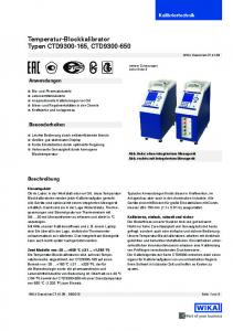 Temperatur-Blockkalibrator Typen CTD , CTD