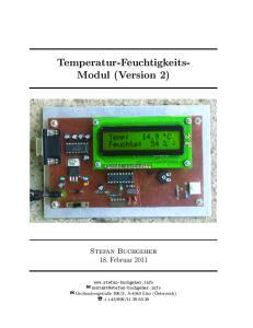 Temperatur-Feuchtigkeits- Modul (Version 2)