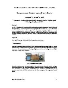 Temperature Control using Fuzzy Logic