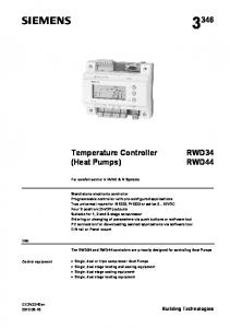 Temperature Controller (Heat Pumps)